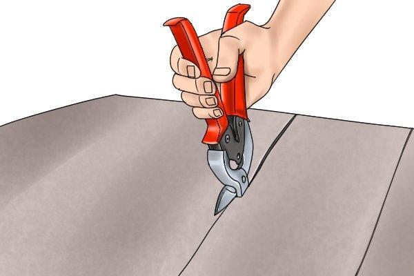 Straight cutting