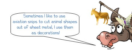 """Wonkee Donkee says """"I like to cut animal shapes out of sheet metal using aviation snips"""""""