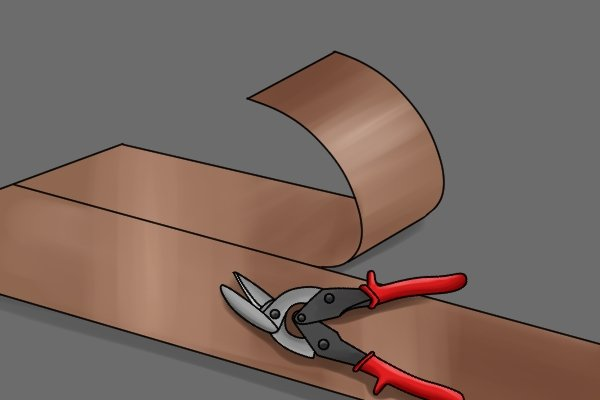 how to cut corrugated iron with tin snips