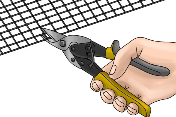 Aviation snips should be able to cut sheets of vinyl, rubber, plastic, leather, wire mesh and other tough materials