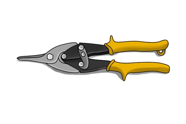 Utility cut aviation snips will be more suited to cutting lightweight materials
