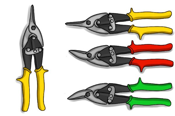 Aviation snips are compound action tin snips, they come in different designs