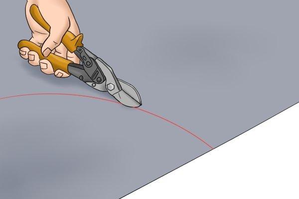 Curve cutting