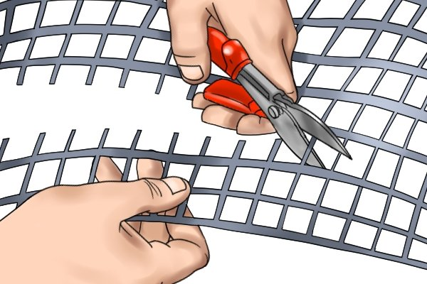 Snips are used for cutting sheets of metal and other tough materials