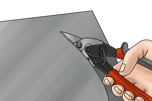 Aviation snips are designed to cut flat materials not wire