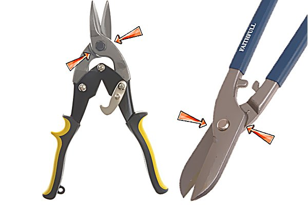 Oiling some of the parts of aviation shears will keep then free from rust