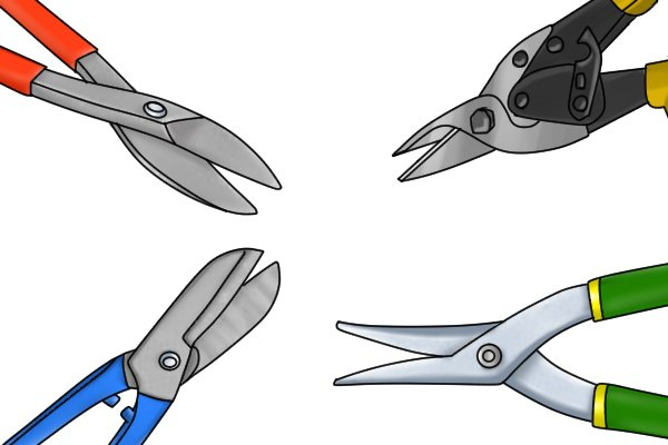 Variety of tinsnips