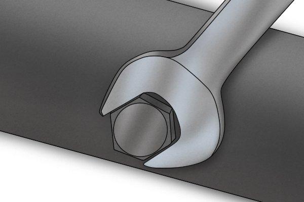 wrench tightening bolt