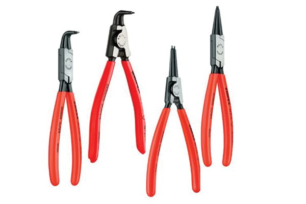 Circlip pliers are used to install and remove circlips easily