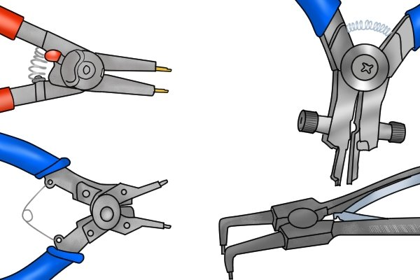 Return springs on circlip pliers make them easier to use