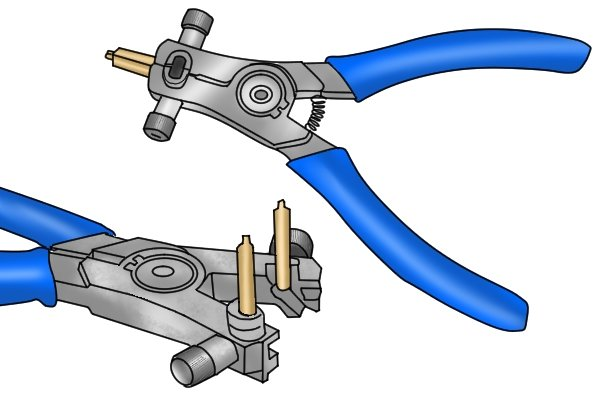 Some circlip pliers can be adjusted to have straight or angled tips