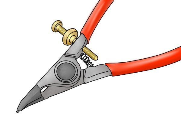 Locking mechanisms on some circlip pliers mean you won't over stretch the circlip