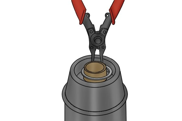 External circlips fit securely onto shafts, external circlip pliers are used with external retaining rings