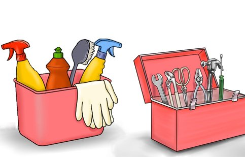 Tools should be stored correctly and kept clean