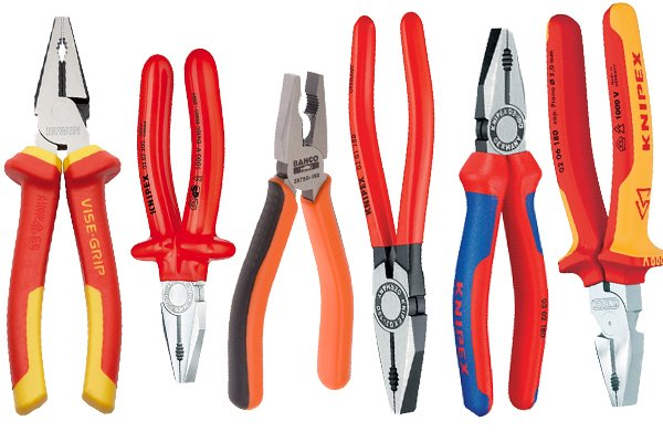 Pliers are common tools. Combination pliers can be used for various tasks