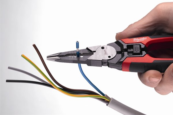 Some combination pliers have additional parts, such as wire strippers