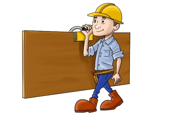 Board carriers are used to carry plywood, chipboard, plasterboard and similar panels