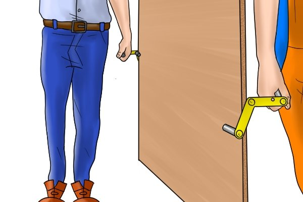 Door or board carriers can be used in pairs, by two people to carry heavier sheets of material
