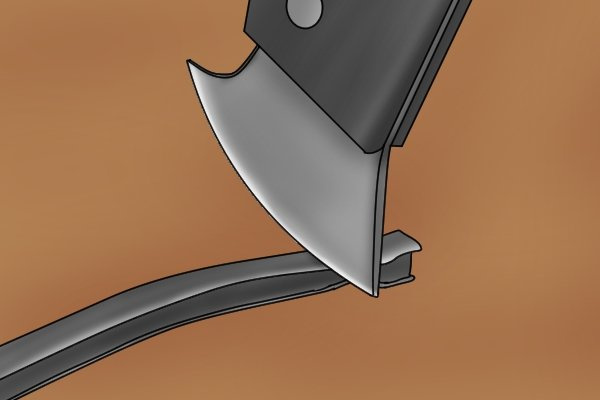Lead knives are often used to put together stain glass panels