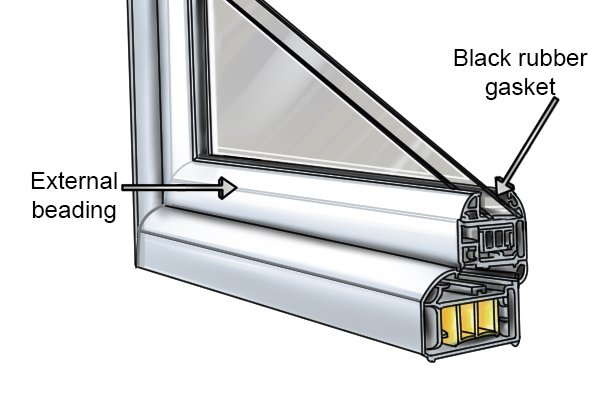 how to remove upvc window beading with a lead knife