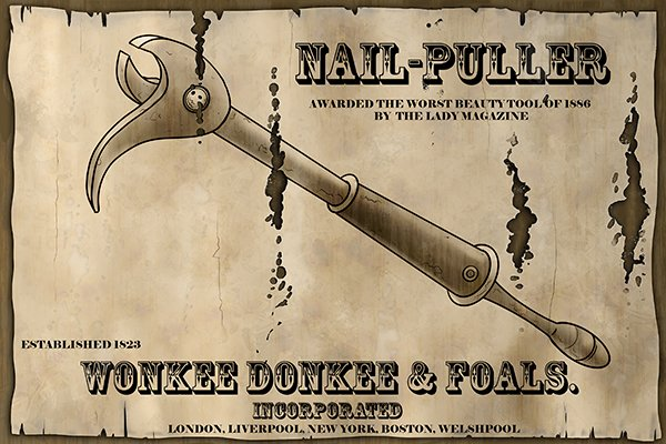 jawed nail puller, traditional nail puller, nail remover, removing a flushed nail, antique nail puller