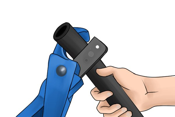 Plastic pipe and hose cutters may be used in plumbing or automotive repair as well as for other purposes.