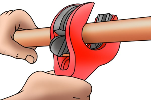 To cut metal tubes or pipes you will need a pipe cutter