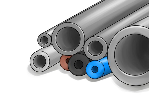 conduit pipes and hoses protect electrical wiring or may be used to transport fluids