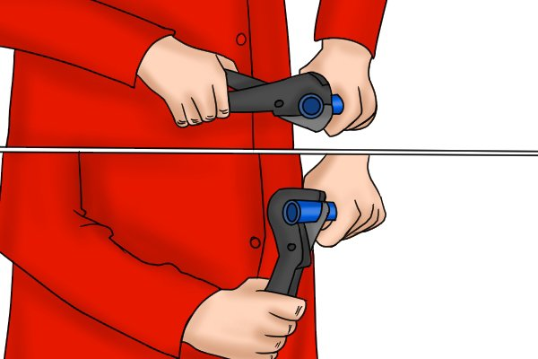 If you need to you can twist the tool around the pipe as it cuts to make sure it cuts all the way through