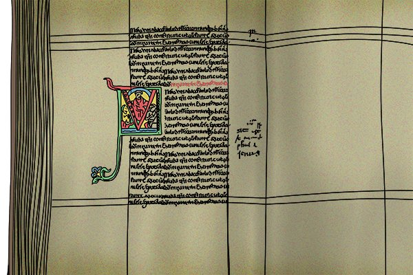 Manuscripts from the middle ages usually had the text underlined, this was part of the style