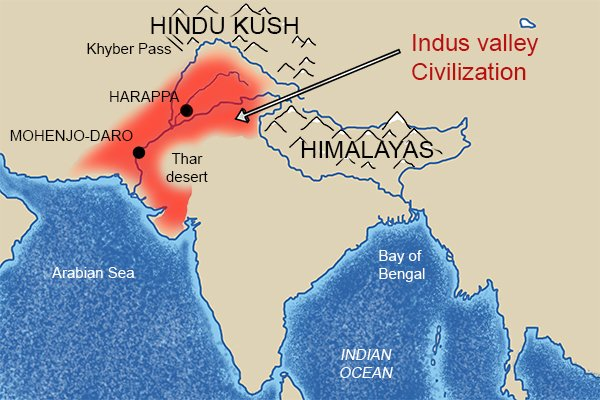The ancient civilisation of the Indus Valley used instruments like rulers and rules