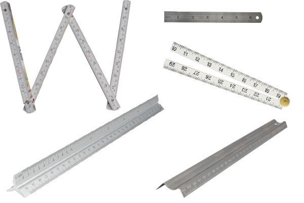 A rule is a simple measuring device which can also be used to rule straight lines.