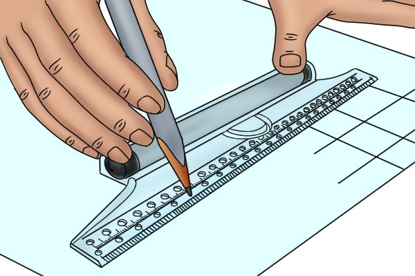 Rolling rules are used in technical drawing
