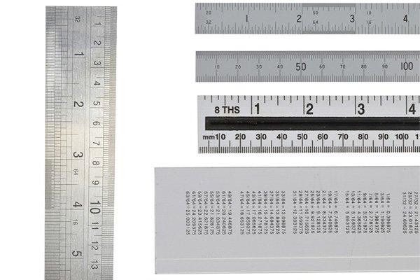 good quality steel rules should be very precise