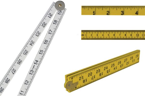 There are lots of different types of plastic ruler available
