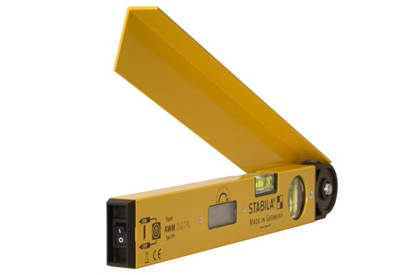 Digital angle rules consist of two rulers, a digital display, a locking knob, hanging holes, an on / off button and a zero button to reset the display, digital angle finders usually don't have rule strip, they measure levels and angles