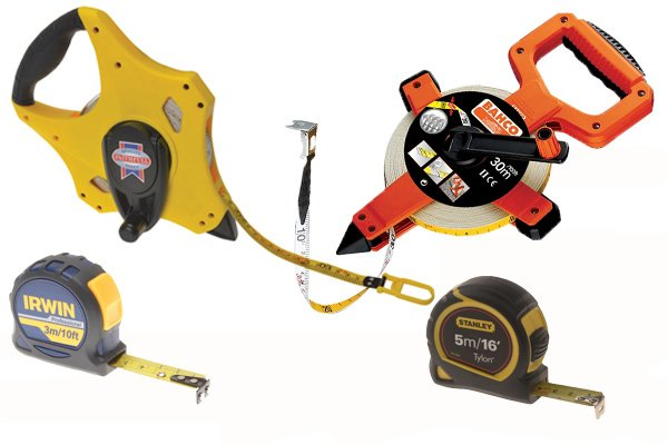 Tape measures or measuring tapes can be used as an alternative to rules and rulers