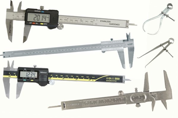 Claipers can be used to measure small distances of various objects