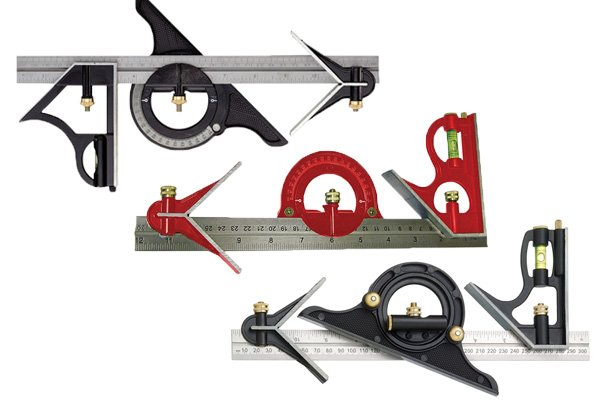 Combination set squares combine a rule strip with other tools which can measure angles