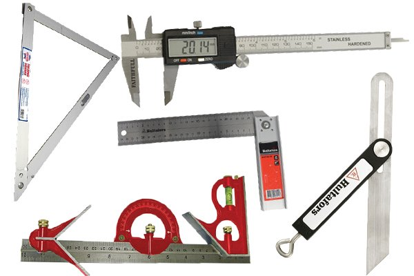 Many measuring tools have straight edges which can help to guide pens or cutting edges, they can be used instead of a rule or ruler