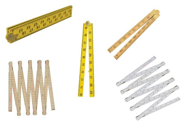 Folding rules can be shortened or extended for taking different measurements