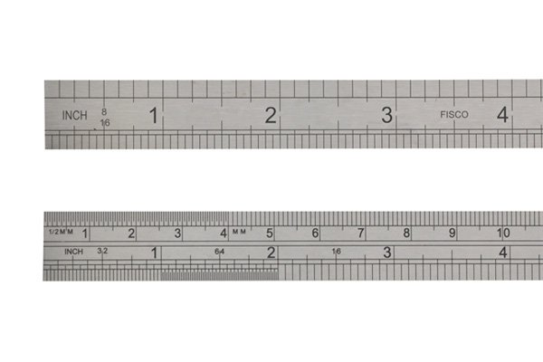 the marks on folding rules are usually imperial or metric measurments