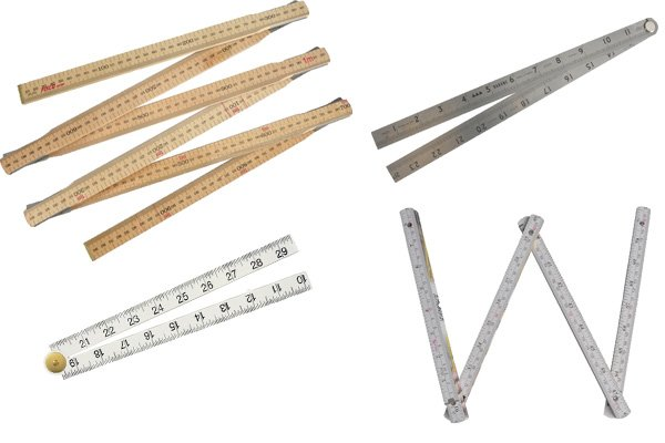 Folding rulers and rules can be made from different materials