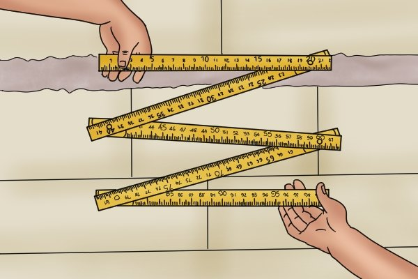 You can use folding rulers to measure short spaces and long distances