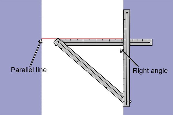 Folding rules can be used to draw parallel lines