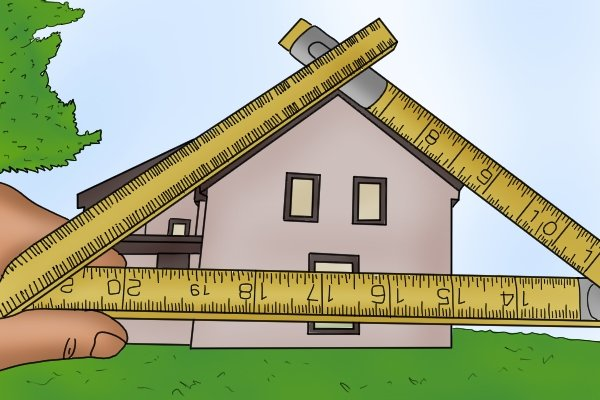 Folding rules can be used to measure angles that would normally be difficult to measure