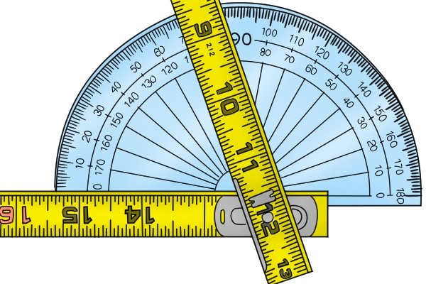 Folding rules can be positioned against an angle so the angle can be measured later against a protractor