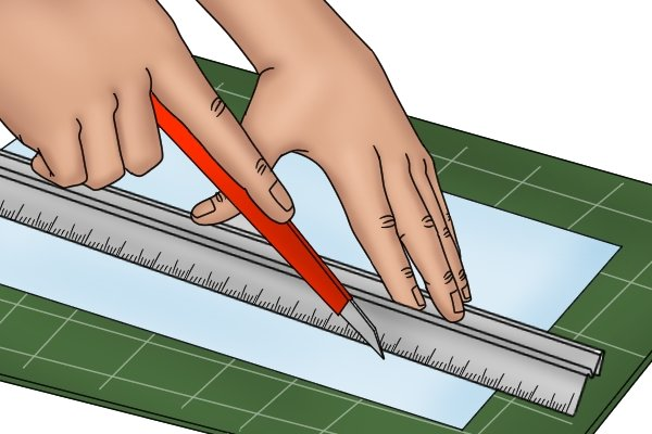 Safety rules are specifically designed to be used with blades to cut straight lines
