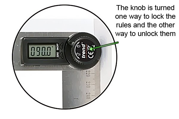 Digital angle rules can be locked at specific angles