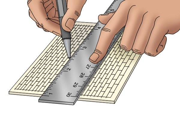 Position a rule correctly to obtain accurate measurements